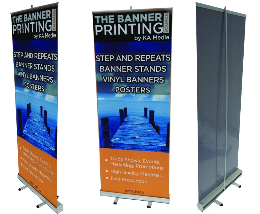 Banner Stand Toronto Canada KA Media - Vinyl banners stands